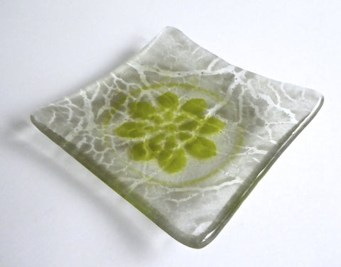 Fused Glass Crackle Dish
