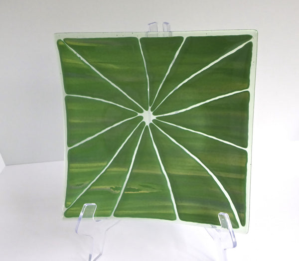 Fused Glass Shatter Plate