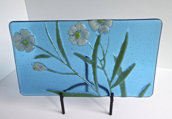 Fused Glass Floral Art Plate-4