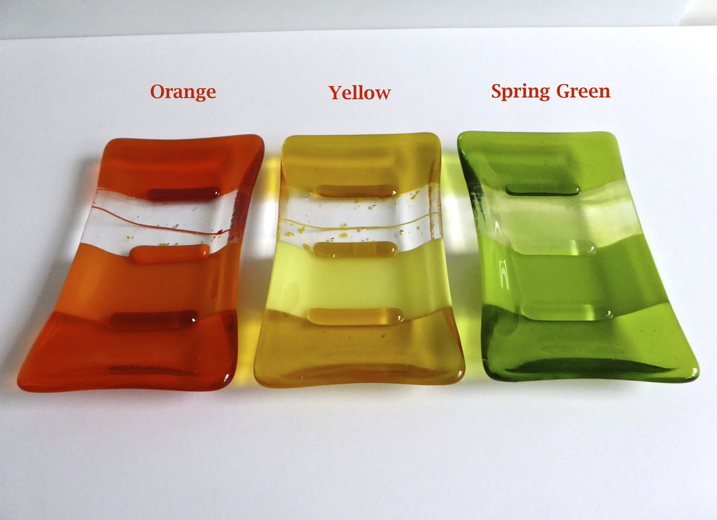 Fused Glass Soap Dish for Groovy Day Soap Gift Set-3
