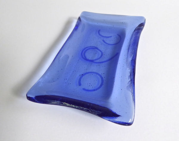Fused Glass Small Dish in Sky Blue