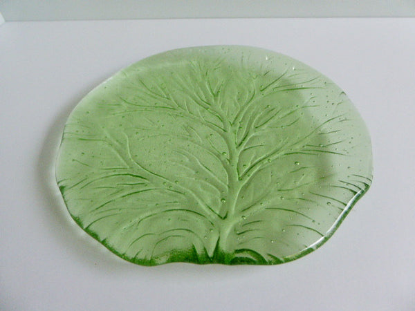 Pair of Fused Glass Salad or Dessert Plates-3