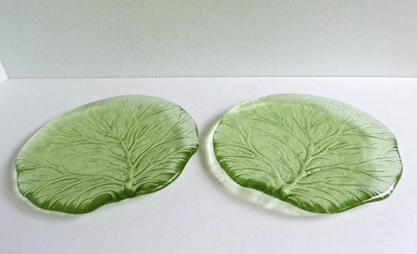 Pair of Fused Glass Salad or Dessert Plates-4
