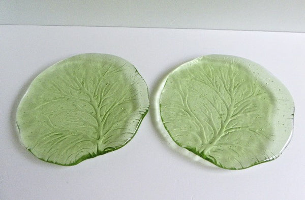 Pair of Fused Glass Salad or Dessert Plates-5