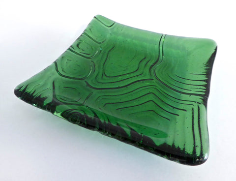 Fused Glass Turtle Shell Imprint Plate