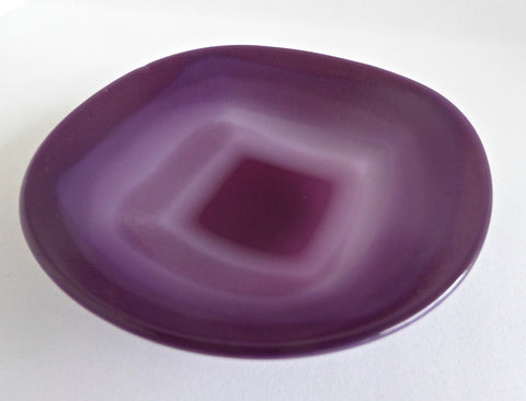 Purple, Plum and Pink Fused Glass Dish