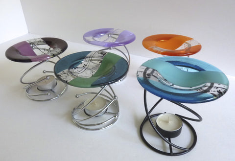 Fused Glass Wax Tart or Oil Warmer Replacement Bowl-1