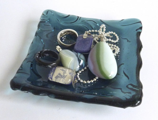 Fused Glass Art Nouveau Imprint Plate