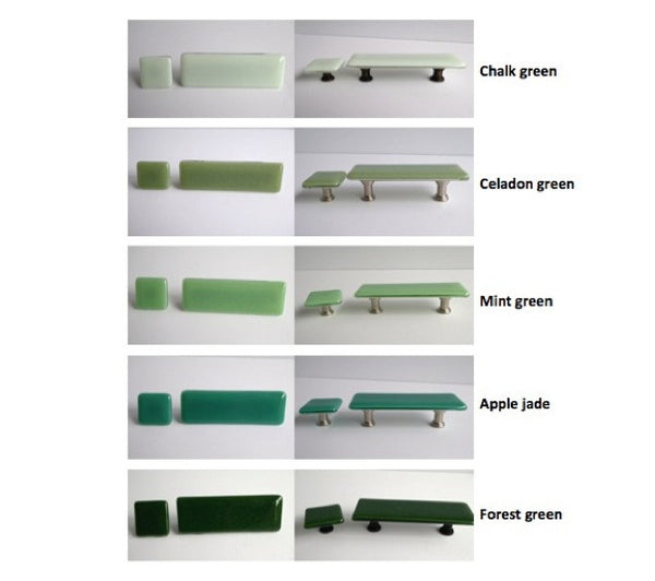 Green Fused Glass Cabinet or Drawer Pulls-4