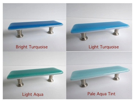 Spa Style Fused Glass Cabinet or Drawer Pulls-1