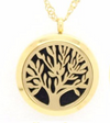 Stainless Steel Locket Necklaces ~ Gold-tone