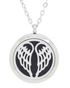 Stainless Steel Locket Necklaces ~ Silver-tone