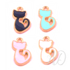 Cat Enamel Charm II ~ 4 Colors-Adorn & Diffuse Essential Oil Aromatherapy Jewelry