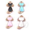 Cat Enamel Charm I-Adorn & Diffuse Essential Oil Aromatherapy Jewelry