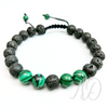 Transformation Bracelet: Lava & Malachite-Adorn & Diffuse Essential Oil Aromatherapy Jewelry