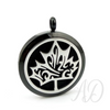 Maple Cutout Leaf Diffuser Locket Necklace ~ Black-Adorn & Diffuse Essential Oil Aromatherapy Jewelry