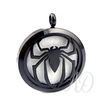 Spider Diffuser Locket Necklace ~ Black-Adorn & Diffuse Essential Oil Aromatherapy Jewelry