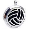 Volleyball Diffuser Locket Necklace ~With or Without Crystals-Adorn & Diffuse Essential Oil Aromatherapy Jewelry