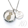 Be a Pineapple Diffuser Locket Necklace-Adorn & Diffuse Essential Oil Aromatherapy Jewelry