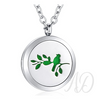 Bird on a Branch Diffuser Locket Necklace-Adorn & Diffuse Essential Oil Aromatherapy Jewelry