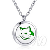 Cat Diffuser Locket Necklace ~ Silver-Adorn & Diffuse Essential Oil Aromatherapy Jewelry