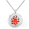 Flame Diffuser Locket Necklace-Adorn & Diffuse Essential Oil Aromatherapy Jewelry