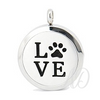 Paw Love Diffuser Locket Necklace ~ Silver-Adorn & Diffuse Essential Oil Aromatherapy Jewelry