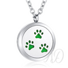 Paw Prints Diffuser Locket Necklace ~ Silver-Adorn & Diffuse Essential Oil Aromatherapy Jewelry