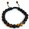 Protection Bracelet: Lava & Tigers Eye-Adorn & Diffuse Essential Oil Aromatherapy Jewelry