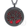 Tree of Life Diffuser Locket Necklace ~ Black-Adorn & Diffuse Essential Oil Aromatherapy Jewelry