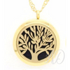 Tree of Life Diffuser Locket Necklace ~ Gold-Adorn & Diffuse Essential Oil Aromatherapy Jewelry