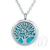 Tree of Life Diffuser Locket Necklace ~ Silver-Adorn & Diffuse Essential Oil Aromatherapy Jewelry