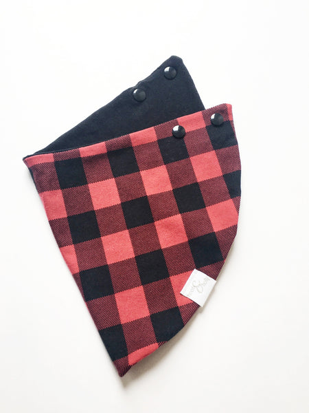 Drool Scarf - Red Buffalo Plaid