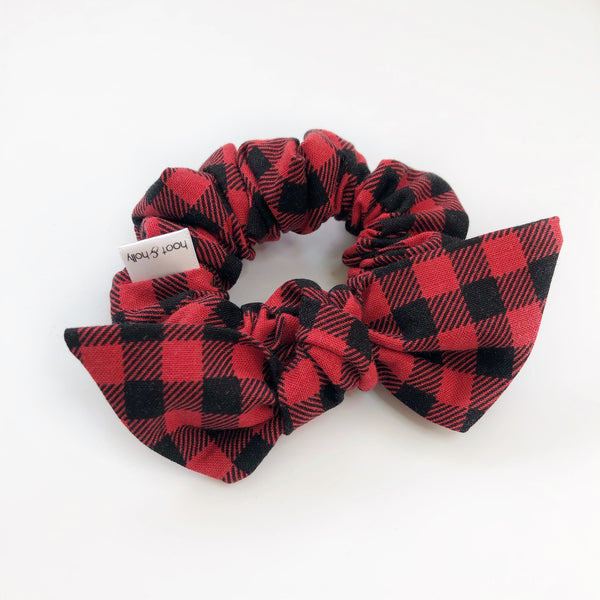 Knot Scrunchies - Buffalo Plaid