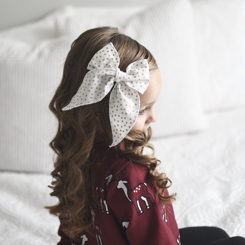 Charlotte Bow - Gold Dot