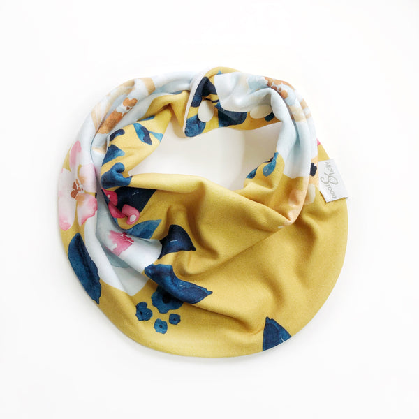 Drool Scarf - Mia Floral - Deep Yellow