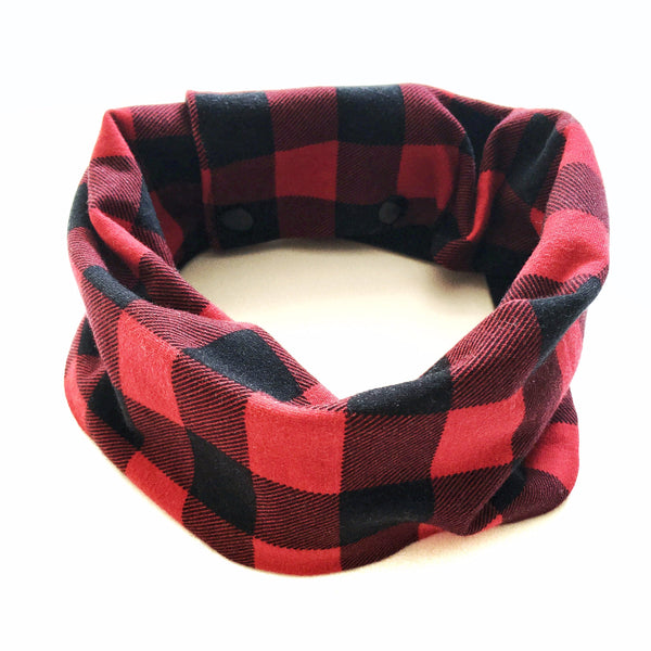 Toddler/Child Scarf - Red Buffalo Plaid