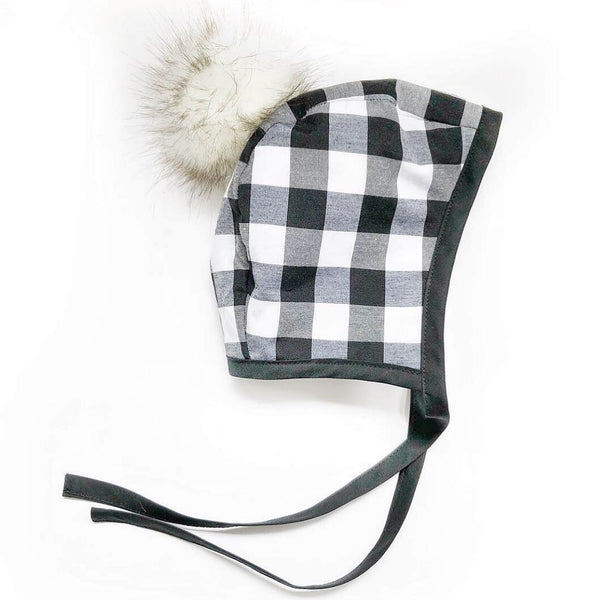 Bonnet -  Black Buffalo Plaid