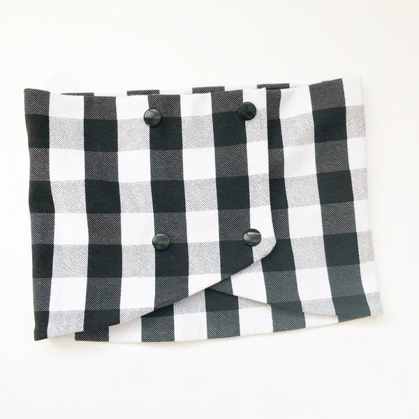 Toddler Loop Scarf - Black Buffalo Plaid