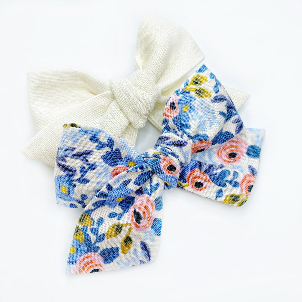 Victoria Bow - Periwinkle Floral