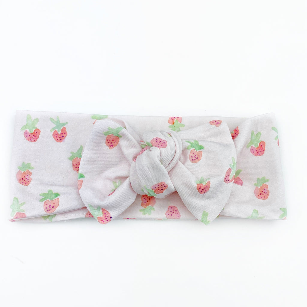 Top Knot Headband - Strawberries