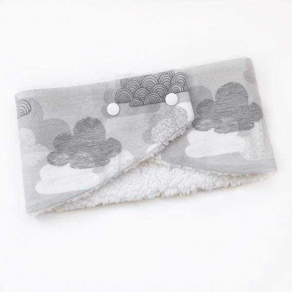 Toddler/Child Winter Scarf - Grey Clouds