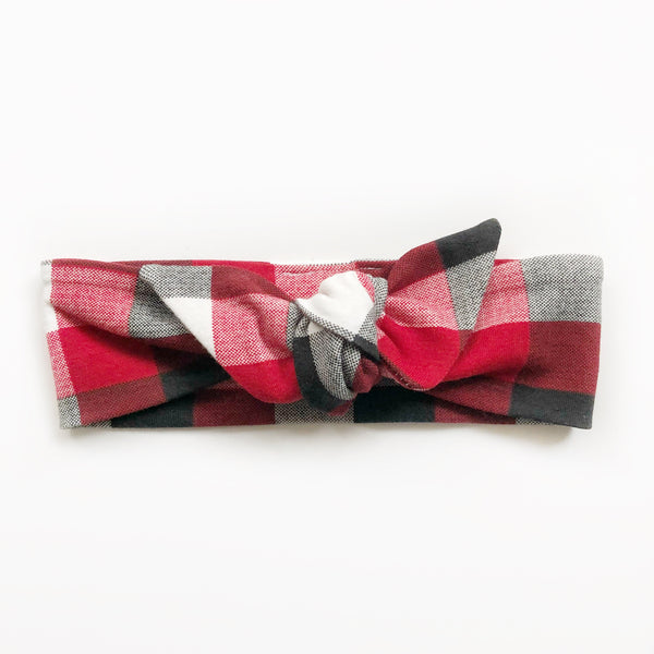 Top Knot Headband - Buffalo Plaid