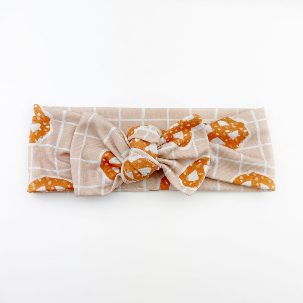 Top Knot Headband - Pretzels