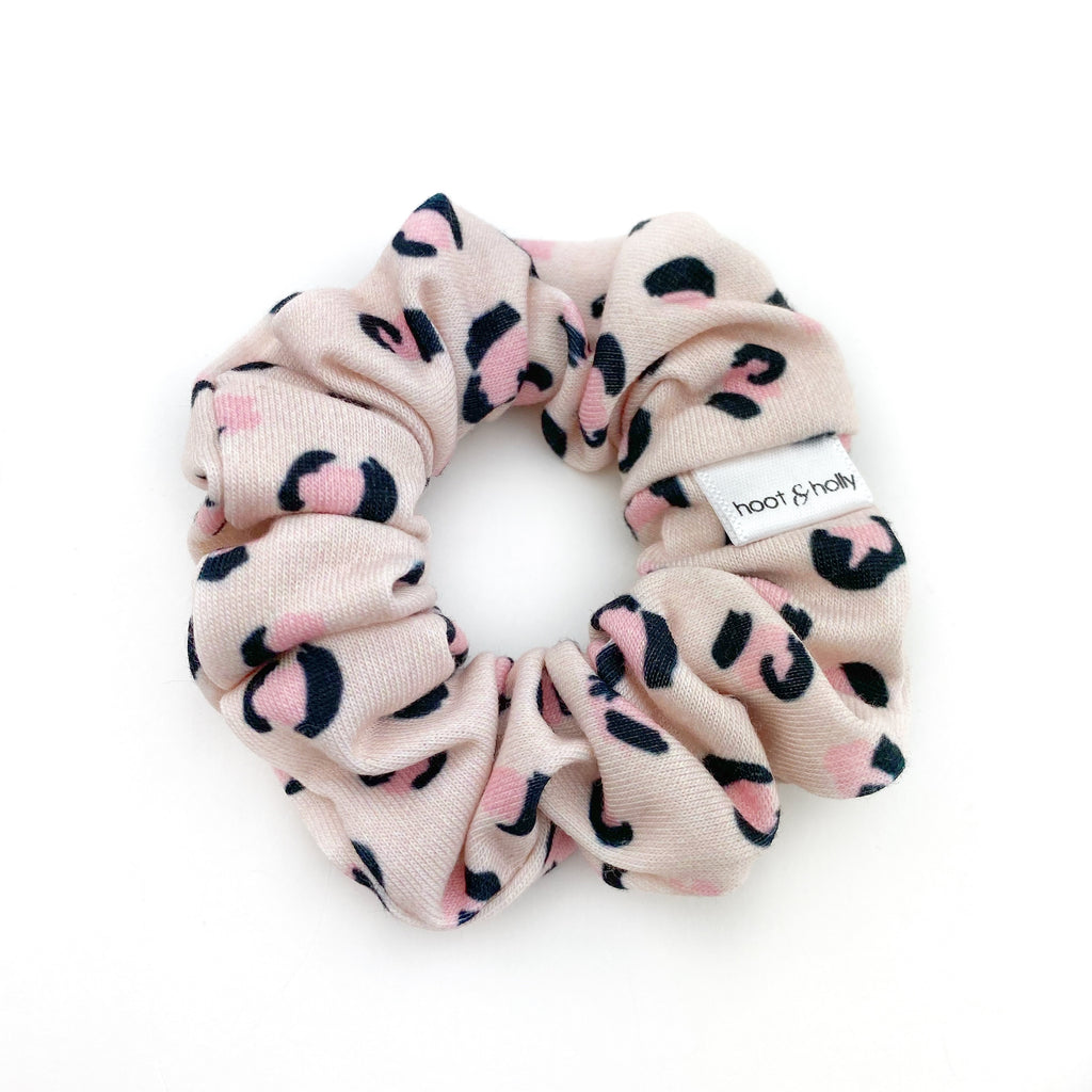 MINI Scrunchies - Pink Leopard