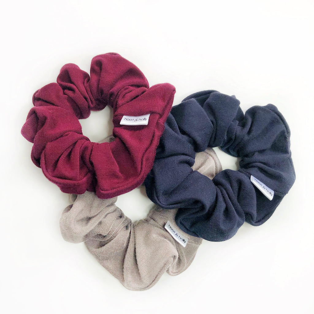 Wholesale - Scrunchies - Bamboo Solids