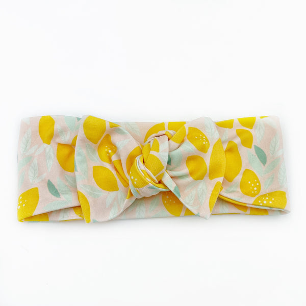 Top Knot Headband - Lemons