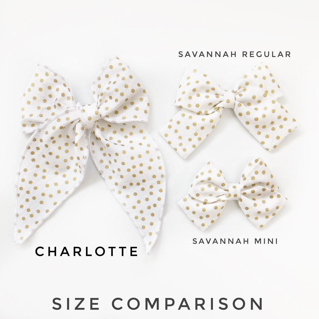 Charlotte Bow - Pink Swiss Dot