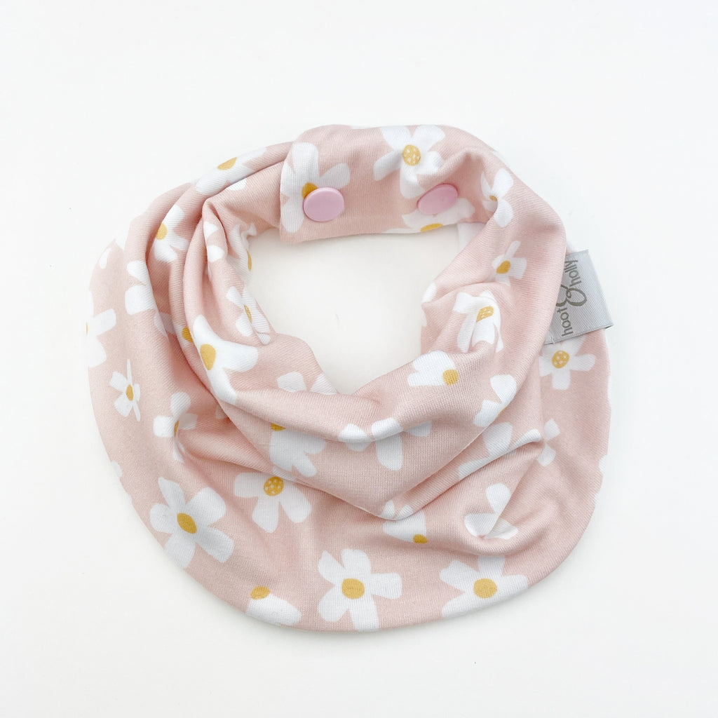 Drool Scarf - Pink Daisy