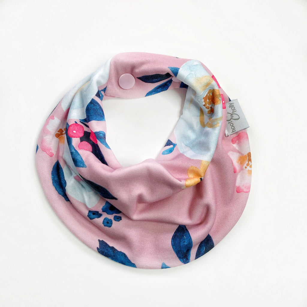 Drool Scarf - Mia Floral - Dusty Rose